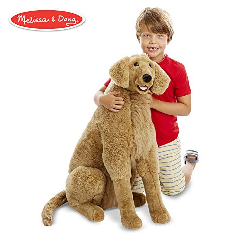 Melissa & Doug Giant Golden Retriever - Lifelike Stuffed Animal Dog (over 2 feet -