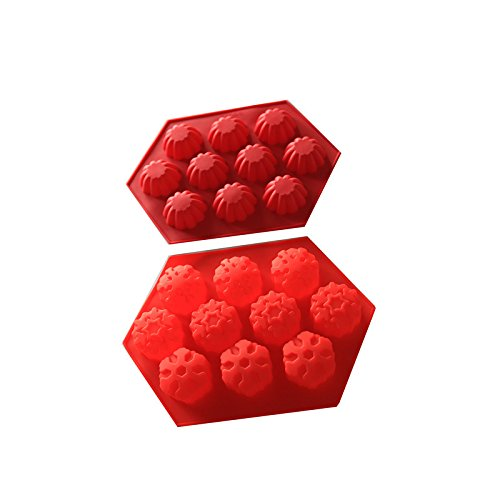 ALLIN Cake Mold Baking Mold For Different Shape Cake Cookies Bread (Red)