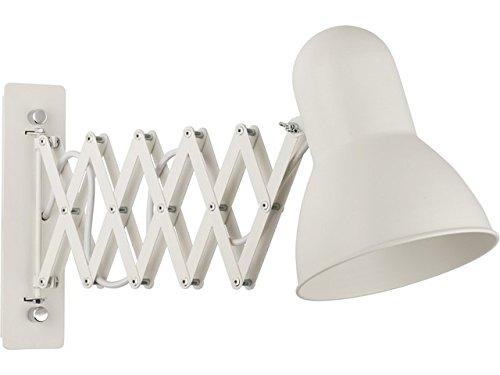 Ausziehbare Wandleuchte in weiß Vintage Stil inkl. 1x 12W E27 LED 230V Wandlampe aus Metall für Wohnzimmer Schlafzimmer Lampe Leuchten Beleuchtung innen