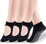 Yoga Socks for Women,Non Slip Grip Socks Ideal for Yoga, Pilates, Pure Barre, Ballet, Dance, Barefoot Workout,