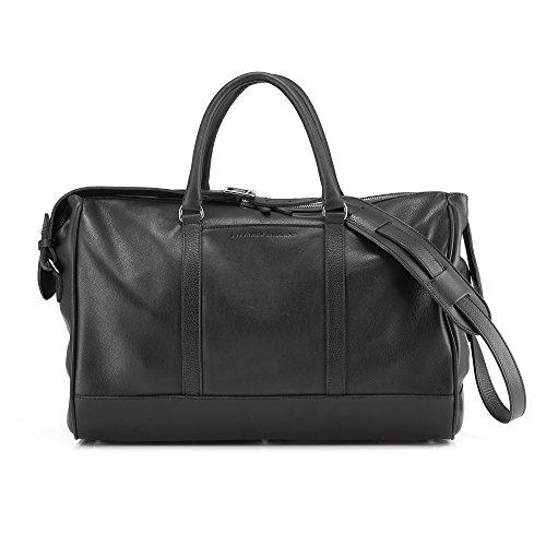 Daines & Hathaway Finsbury schwarz Leder über Nacht Tasche