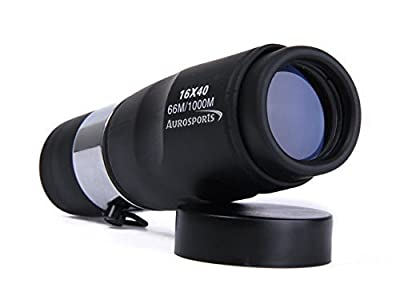 Aurosports Compact pocket Size 12x25 High-powered Wide-angle Zoom Monoculars with Hand Strap