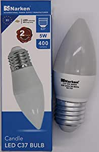 NARKEN - 3.8' Candle Buld/F-C38-5W-3000K-E27