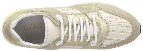 Geox OMAYA A, Baskets Basses Femme Or (LT GOLD/LT TAUPEC2LH6)