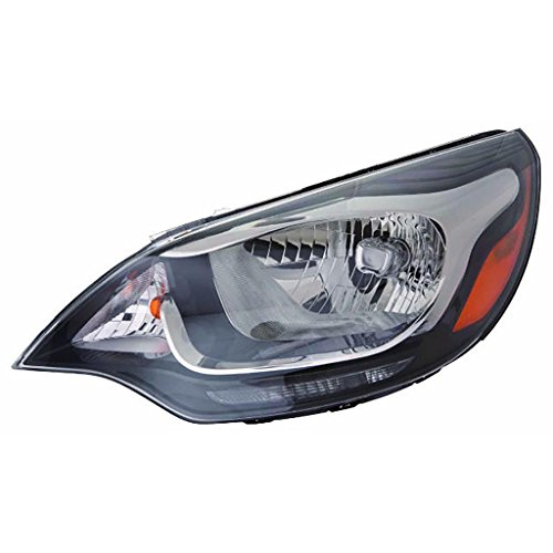 Fits KIA RIO Sedan 12-16 Headlight Assembly EX/LX W/O LED Position Lamp Driver Side (NSF Certified) ()