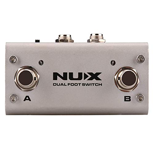 NUX NMP-2 Dual FootSwitch for Keyboard, Modules and Effect pedals (Pedals Keyboard Effects)