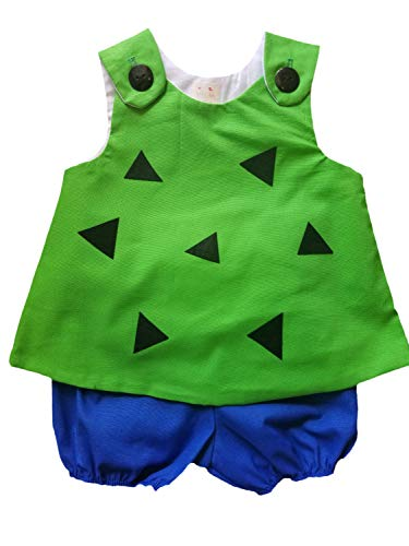 (Boy Girl Twin Outfits Pebbles and Bam Bam Costume Set Choose Boy or)
