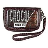 Cell Phone Case Wristlet- Brown- Milk Chocolate