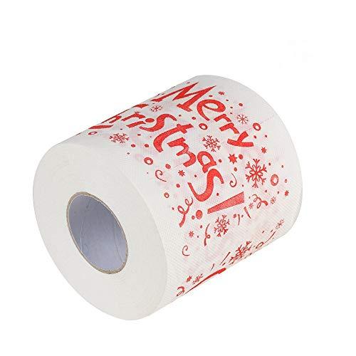 (Yezijin Clearance!! Christmas Bath Toilet Paper, Home Santa Claus Bath Toilet Roll Paper Christmas Supplies Xmas Decor Tissue (C))