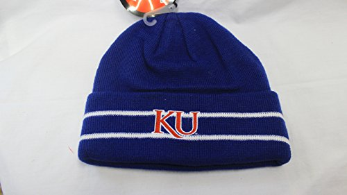 NEW! NCAAL Kansas Jayhawks Embroidered Cuff Beanie Cap ()