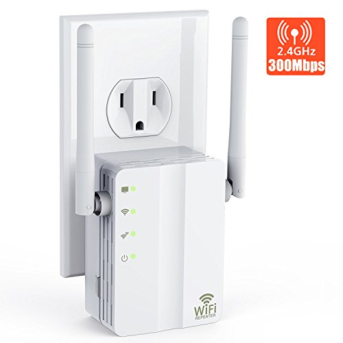 Yakalla WiFi Extender/2.4Ghz WiFi Range Extender/WiFi Signal Booster with Ethernet Port Long Range Extender- 360 Degree Full Coverage Up to 300 M by Yakalla