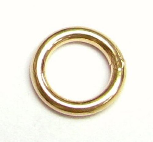 - 6 pcs 14k Gold Filled Round Closed Soldered Jump Rings 6mm 18ga 18 gauge Wire Connector/Findings/Yellow Gold