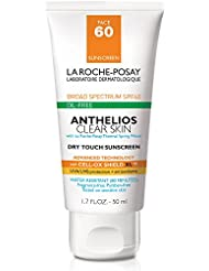 La Roche-Posay Anthelios Clear Skin Dry Touch Sunscreen Broad Spectrum SPF 60, Oil Free Face Sunscreen, Non-Greasy, Oxybenzone Free, 1.7 Fl. oz.