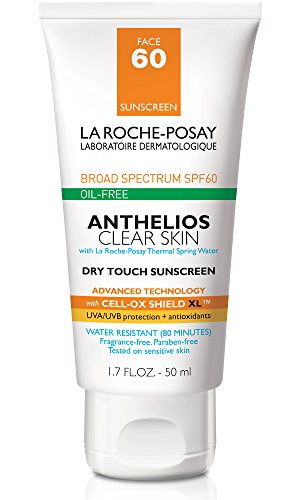 La Roche-Posay Anthelios Clear Skin Sunscreen SPF 60, 1.7 Fl. Oz. (Best Body Lotion For Dry Skin In Summer With Spf)