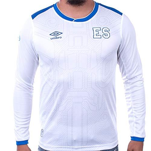 Umbro El Salvador Away Long Sleeve Soccer Jersey 17/18 White/Blue - Long Umbro Sleeve