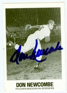 Don Newcombe autographed Baseball Card (Brooklyn Dodgers 67) 1977 TCMA #17 Don Newcombe Autographed Baseball