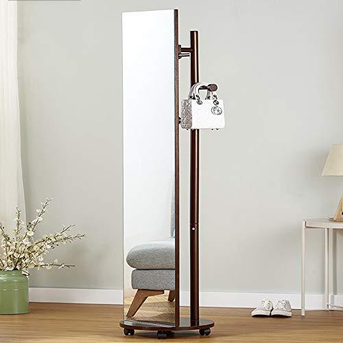 Perchero Chunlan 2 en 1, Espejo de Cuerpo Entero, Espejo de Suelo, Desmontable, Colgador Giratorio de 360 ° (Color :...