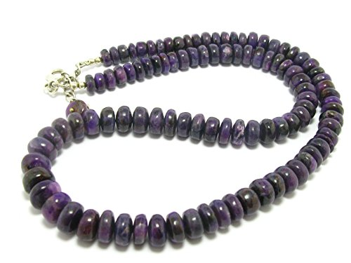 Sugilite Necklace Beads From South Africa - 18'' by Sugilite