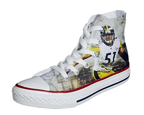 Converse All Star Customized - zapatos personalizados (Producto Artesano) Football Americano