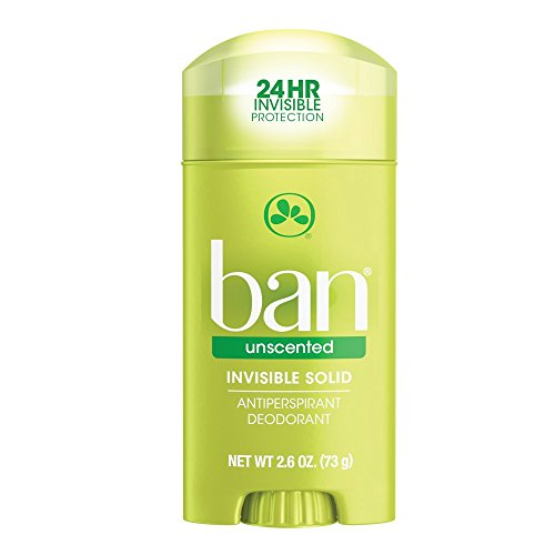 Ban Antiperspirant Deodorant, Invisible Solid, Unscented 2.60 oz
