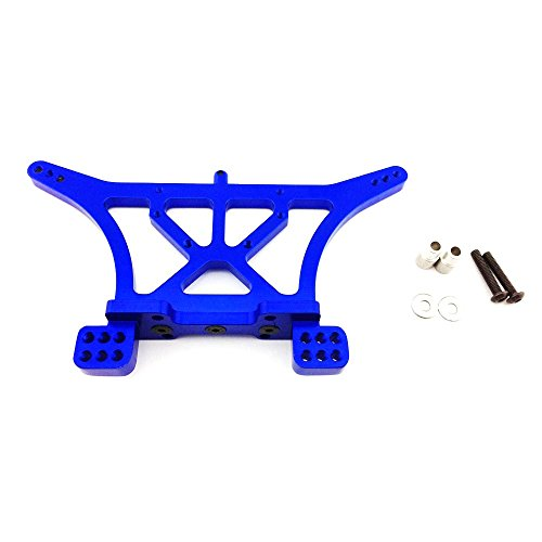 Atomik RC Traxxas Rustler 1:10 Aluminum Alloy Rear Shock Tower Hop Up Upgrade, Blue Replaces Traxxas Part 3638 Blue Aluminum Shock Tower
