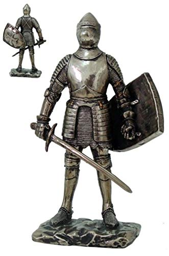 - YK Medieval Knight Decorative Figurine Elite Standing Guard Statue Suit of Armor