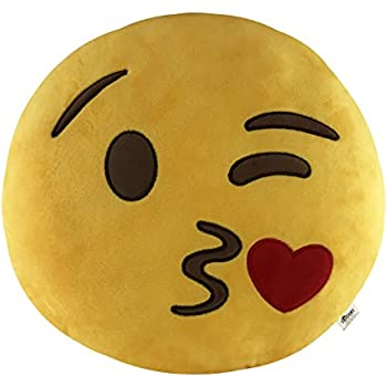 Amazon.com: EvZ 32cm Emoji Alien Emoticon Gray Cushion ...