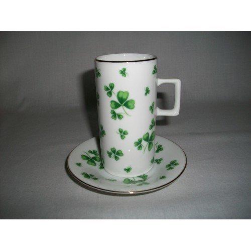 neiman-marcus-irish-coffee-cup-saucer-shamrock-pattern
