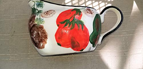 USA hand painted ceramic pasta gravy ()