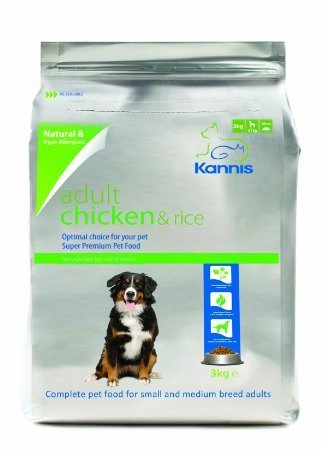 Kannis Adult Chicken Rice Dry Dog Food For Small Medium Breeds 3