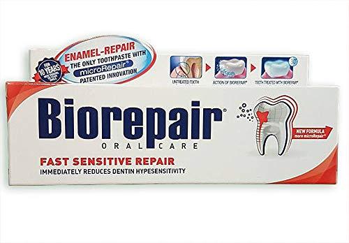 1pc non flouride biorepair fast sensitive REPAIR toothpaste 75ml repairs...
