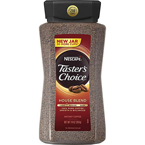 Nescafe Taster's Choice Signature House Blend Instant Coffee Classic Taste   14 Ounce Value Size   Premium Freshness In Your Morning Cup