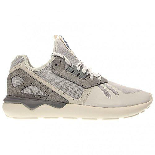 Hombres Adidas tubular Corredor Negro / Marrón 11 corrientes atléticos B35641 Vintage White