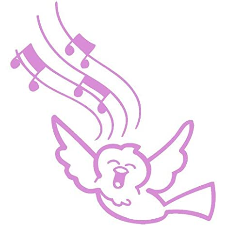 Amazon com: Song Bird Singing Music Note Decal Sticker (pink