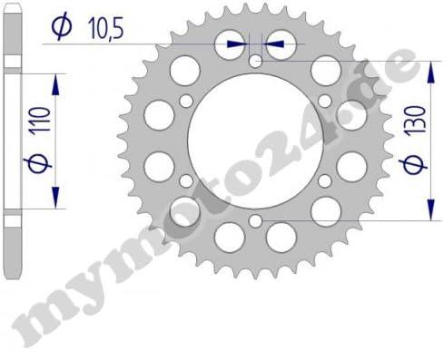 DID Kettensatz Alu Kawasaki Ninja 300 Bj.2014 14-42-106 DID520VX2 Clip