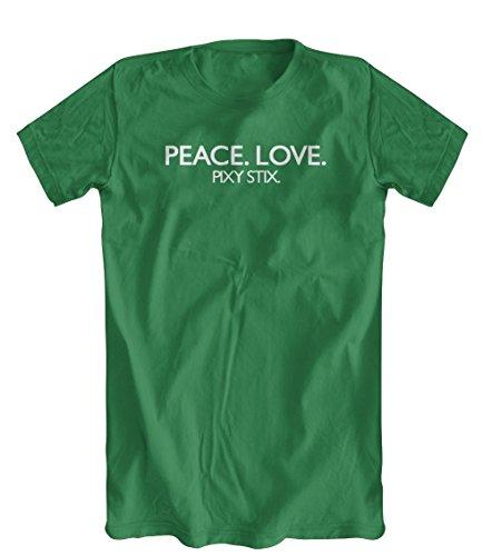 Peace. Love. Pixy Stix. T-Shirt, Men's, Kelly Green, Large