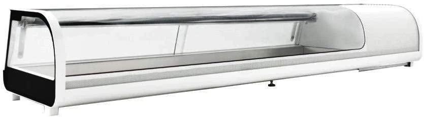 """Countertop Sushi Cooler Display Case with LED Lighting; 71"""" Wide"""