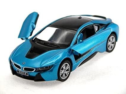 Amazon Com New 1 36 Kinsmart Display Blue Color Bmw I8 Diecast