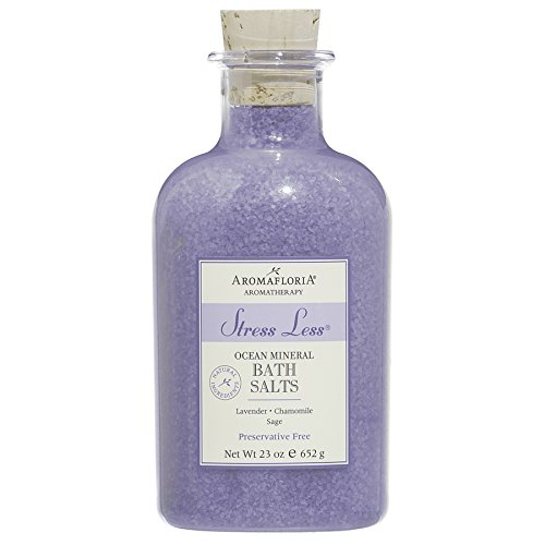 (Aromafloria Aromatherapy Collection Stress Less Ocean Mineral Salts, Lavender/Chamomile/Sage, 23.0 Ounce)