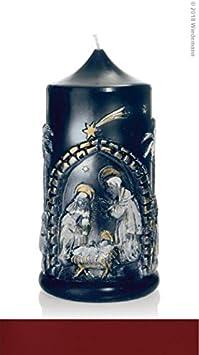 Wiedemann – Relieve de Navidad Vela Sagrada Familia 175/90 mm (Burdeos): Amazon.es: Juguetes y juegos