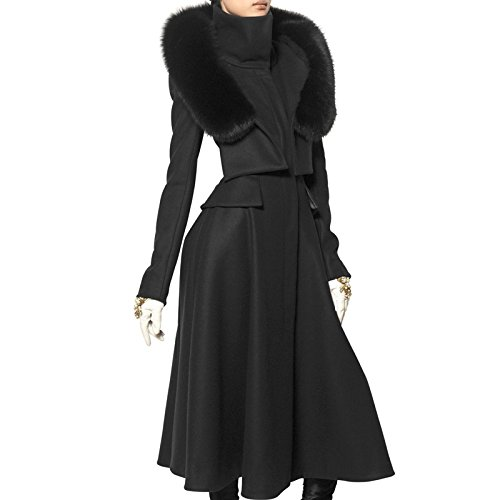 PLAER Damen Blouson Mantel Schwarz Color: Black
