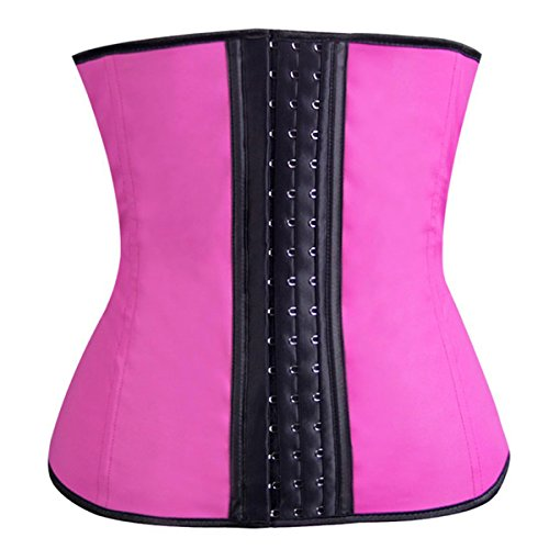 The Cane Women's Perfect Fit Workout Slimming Waist Cincher and Body Shaper Corsets Color Hotpink Size M