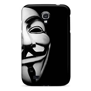 Jqg686lgju Tpu Case Skin Protector For Galaxy S4 Anonymous Mask With Nice Appearance