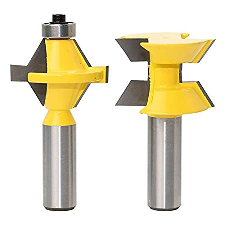 Exquisite Tongue And Groove Router Bit Set Woodworking Power Tools