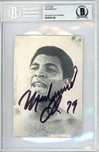 Muhammad Ali Autographed 1979 4x6 Postcard Vintage Signed In 1979 Beckett BAS #10541145