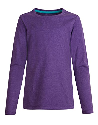 Hanes Big Girls' ComfortSoft Long Sleeve Tee, Purple Crush, (Big Kids Purple Apparel)