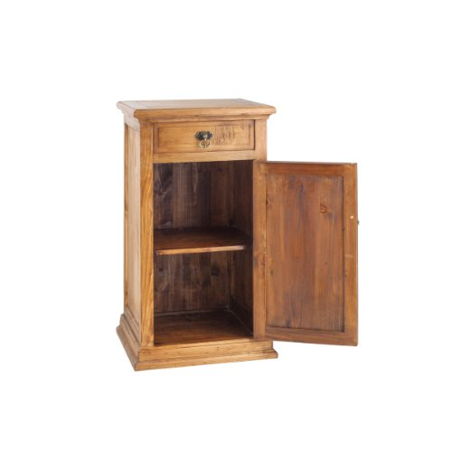 PL Home Wooden Stand with Swing Open Door and Top Drawer