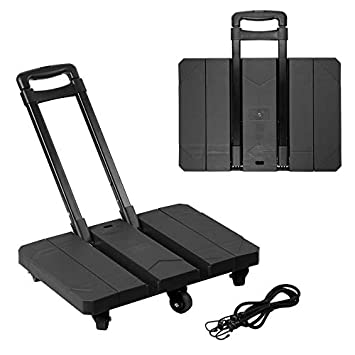 30e2d1f784bb Amazon.com | Extendable Hand Trolley 6-Universal-Wheel Flat Luggage ...