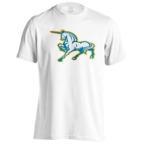 Neues Einhorn Pferd Tänzelnde Seite Herren T-Shirt l651m