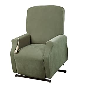 Sure Fit Lift Recliner Slipcover, Large, Green